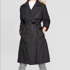 ☔️Merona☔️ L Woman's Black Trench Coat Jacket